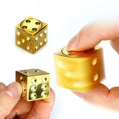 ECUBEE Spinner EDC Sieve Dice Hand Spinner Aluminum Fidget Spinner Finger Gadget