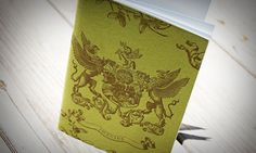 from one of my favorite letterpress printers... a very regal design