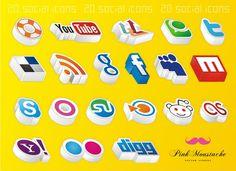21 Packs de Iconos de redes sociales para descargar – Puerto Pixel | Recursos de Diseño
