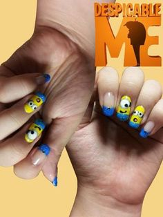 A friend of mine had a profile picture of Despicable Me & I thought it would be a cute idea to paint my nails with this character!    Follow me on Twitter: @nleenails  Follow me on Tumblr: nleenails.tumblr.com