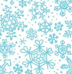 Moda Fabric Sara Khammash Penguins Pals Snowflakes white / aqua
