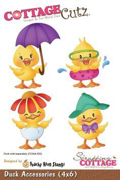 CottageCutz Duck Accessories (4x6 Peachy Keen Design)