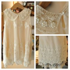 Vintage inspired Toddler girl Ivory Lace Beaded Tulle Embroidered Dress...so pretty