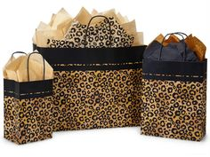 Leopard Print Gift Bags for stores & boutiques. Nashville Wraps has the largest selection Gift Bags for retail packaging at wholesale bulk prices! Leopard Animal, Cheetah Print, Leopard Prints, Leopard Print Party, Print Packaging, Black Paper, Gift Bags, Paper Shopping Bag, Safari