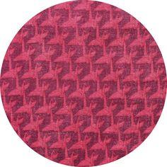 HALF YARD Kokka- Monochrome by Ellen Baker - Small Cranes on Plum - Double Gauze - Japanese Import Fabric by fabricsupply on Etsy