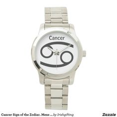 Cancer Sign of the Zodiac. Mens Watches. Wristwatch