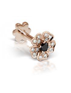 5.5mm Black Diamond Pansy Threaded Stud (Tragus) Image #1
