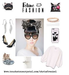 """Kitty Fashion"" by christen-olnhausen-frenkel on Polyvore featuring Kate Spade, Berry, Victoria Beckham and Touchstone Crystal"