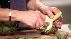 Cómo preparar una alcachofa para cocinarla. Consejo de comida saludable ...
