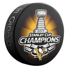 Pittsburgh Penguins hockey puck  PITTSBURGH PENGUINS 2017 Stanley Cup Champions HOCKEY LOGO SOUVENIR PUCK #InGlasCo #PittsburghPenguins