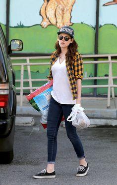 Kristen Stewart checked shirt