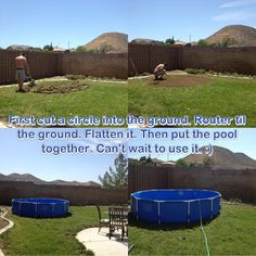 Above Ground Pool Pad Ideas pool liner installation When You Put A Above Ground Pool Make Sure You Diy And Do It Right So
