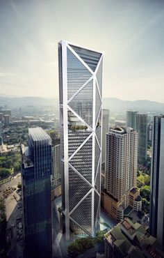 The 50 Most Innovative Buildings Of The 21st Century -IB Tower, Kuala Lumpur, Malaysia. The 298 metre-tall tower was designed by Norman Foster, the British architect, and is on plan to be delivered by 2014.