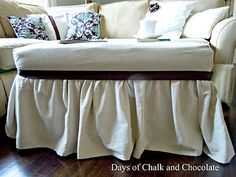 Days of Chalk and Chocolate: Ottoman Slipcover
