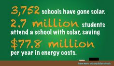 3,752 schools in the U.S. have gone solar! Check out more solar school stats, a photo gallery and resources for teaching solar in K-12 schools.