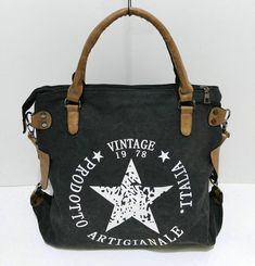 American Backroads Patriotic Womens 8 x 10 Inch Canvas /& Vegan Leather Crossbody Purse Bag