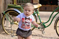 Baby Boy Onesie - Bicycling - Hipster Baby clothes - First Birthday - Cool Baby Clothes - Baby and Toddler - Diaper Cover