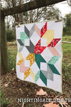 Swift Wreath Quilt - Pattern available on Craftsy.com