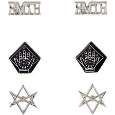 Bring Me The Horizon Symbol Earrings 3 Pair Hot Topic ($5.95) ❤ liked on Polyvore featuring jewelry, earrings and earring jewelry