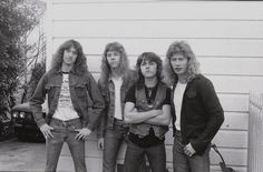 Cliff with Metallica in one of the original lineups consisting of James Hetfield, Lars Ulrich, Dave Mustaine and himself.