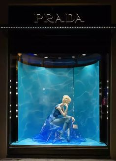 >>>Cheap Sale OFF! >>>Visit>> PRADA Paris France The Perfect Water The Iconoclasts by Milena Canonera pinned by Ton van der Veer Window Display Retail, Window Display Design, Retail Windows, Store Windows, Retail Displays, Shop Displays, Visual Merchandising Displays, Visual Display, Shop Front Design