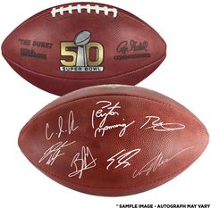 Denver Broncos Autographed Wilson Super Bowl 50 Pro Football with Multiple  Signatures - Limited Edition of 5dda7d5b7