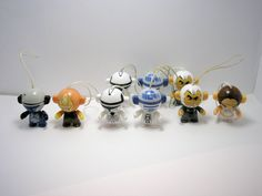 Twistheads lot of 9 small toy figures for craft or cake decor #ferrero