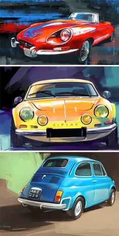 Car Illustrations by Swaroop Roy