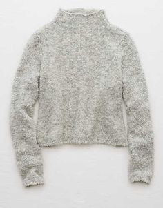 Aerie Boucle Turtleneck Sweater , Urban Black   Aerie for American Eagle