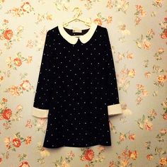 Ark Peter Pan collar, black and white