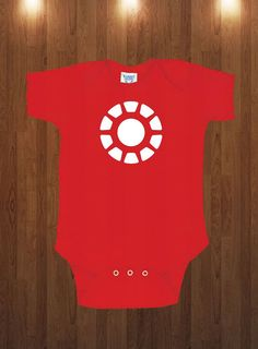 Funny Cute Ironman Onesie Marvel Superhero Gift Idea by TshirtCity, $12.99