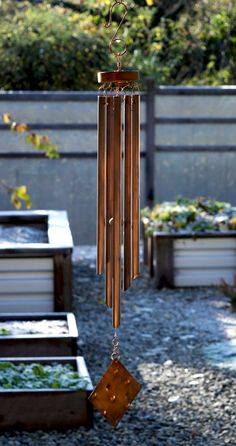 Copper Wind Chime Handcrafted Windchimes