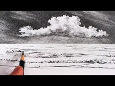 How To Draw a Seascape, Waves, Skies, Graphite Pencil Tutorial - YouTube