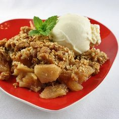 "Apple Crisp with Oat Topping I ""This apple crisp was amazing!!! my friends went crazy over it! I used honeycrisp apples and added caramel on the top!! Delicious!!! five stars!!!"""