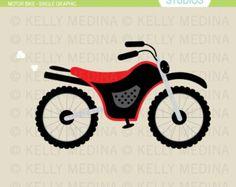 Motor Bike Variety Clip Art Digital by Kellymedinastudios