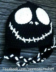 Jack Skellington Crochet Beanie