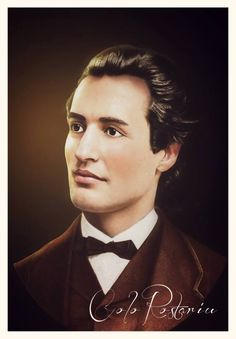 Mihai Eminescu Romanian People, Visit Romania, Moldova, Interesting Reads, Pet Portraits, Abraham Lincoln, Funeral, Writer, England
