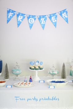 DIY Frozen party ideas on a budget + free printables - Kids will love having a Frozen theme birthday party!