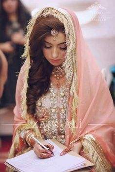 49 Ideas For Wedding Dresses 2018 Bridal Collection Pakistani Muslim Wedding Dresses, Muslim Brides, Wedding Dresses 2018, Wedding Themes, Pakistan Bride, Desi Bride, Pakistani Wedding Dresses, Bridal Outfits, Bridal Looks