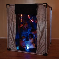 The Dark Den. Another inexpensive idea for a cave sort of feeling.