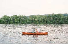 Picnic Engagement Photos on a Canoe | Green Wedding Shoes Wedding Blog | Wedding Trends for Stylish + Creative Brides