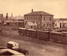 Railway work shops, Sydney, March 1871