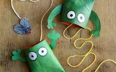 basteln mit klopapierrollen diy ideen deko ideen basteln mit kindern frösche