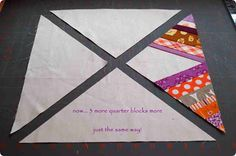 .House. of A La Mode: Spider Web quilt block - Tutorial GOOD SITE  GOOD DIRECTIONS, EASY TO FOLLOW  06/01/15  JS