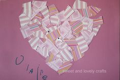 sweet and lovely crafts: heart mosaic