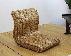 Handmade Japanese Floor Legless Chair Made From Banana Leaves Sitting Room Furniture Asian Traditional Tatami Zaisu Chair