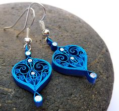 Pendientes Eco-friendly quilled papel quilling por VBPureDesigns