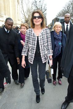 Princess Caroline Photo - Celebs Arrive at the Chanel Fashion Show