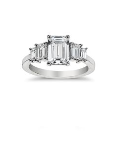 @Belle the Magazine Ring Gallery   Blue Nile Designer Collective   Engagement Rings Platinum Emerald Diamond Solitaire $$$ (3,001 – 6,000)