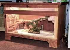 Bearded Dragon Vivarium Furniture - Future home idea for Norbert